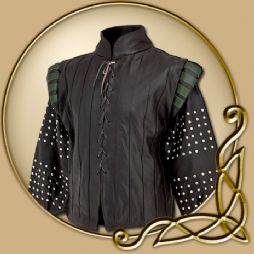 Costume - Long Sleeved Leather Jacket with studs